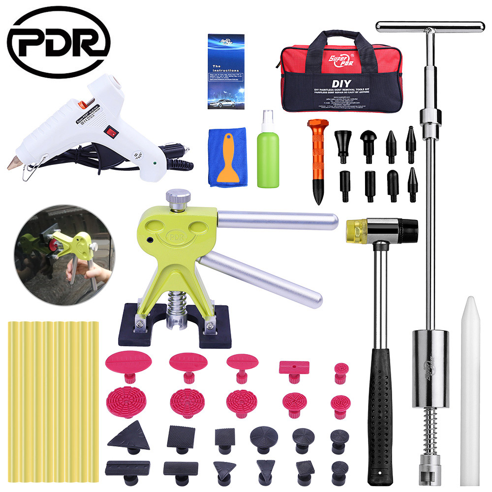 PDR Tools Removing Dents Auto Repair Tool Set Dent Repair Tool Kit Ding Hail Removal Car