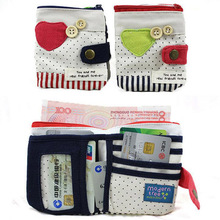 Hot On Sales Female Wallets Zipper Korean Cute Cotton Solid Mini wallet Women Wallets/clutch carteira feminina Wallet Handbag