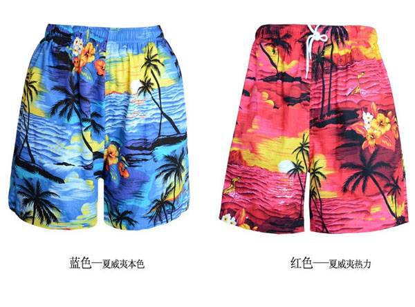 Men/'s Summer Casual Trousers Loose Beach Shorts Fashion Floral Short Pants New