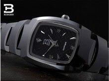 Люксовый Бренд Швейцария Бингер вольфрама стали часы женщины кварцевые часы пиво баррель полный стали наручные часы BG-0394-6