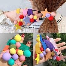 ncmama Fashion Hair Elastic Rubber Band for Women Scrunchy Stars/Balls Ropes Ponytail Gum Ring Girls Accessories