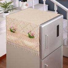 Fyjafon покрытия на холодильник пылезащитный чехол с Сумка для хранения на кухне Декор пылезащитный чехол вышивка кружева 55*145/70*170