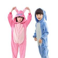 17a61ad806a0 Animal anime Stich Cosplay traje pijamas Halloween unisex niño niña niños  pijama onesie niños pijama(
