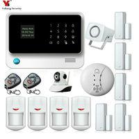 Yobang безопасности приложение Управление голосовые подсказки GSM сигнализация системы безопасности Главная движения ПИР сети Камера дым пожа