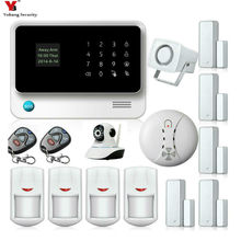 Yobang Security APP Control Voice Prompt GSM Alarm Systems Security Home Motion PIR Network Camera Smoke Fire Alarm Sensor Kits