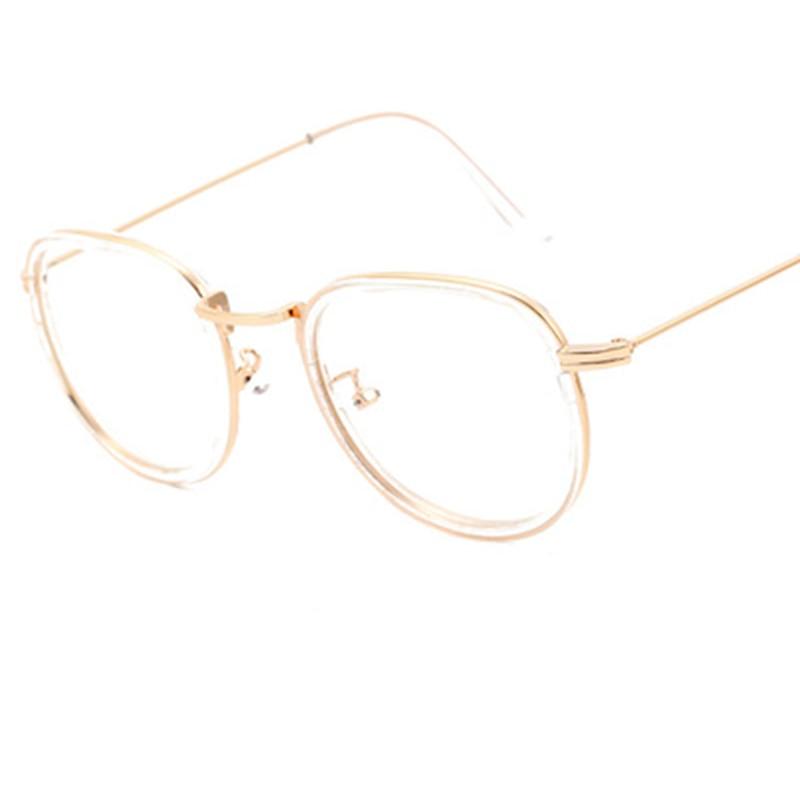 Vintage Clear Lens Eyeglasses Frame Retro Round Men Women Eyewear Nerd Glasses Spectacles Black Leopard Pink Tea Transparent A1 in Men 39 s Eyewear Frames from Apparel Accessories