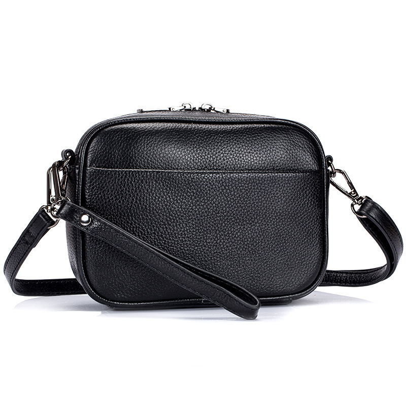 Black Small Shoulder Bag Wrist Clutch Bag for Banquet Mobile Phone The Women's Real Leather Crossbody Bag Bolsas Practical Brand bubm outside sport running arm package wrist bag for mobile phone