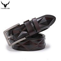 Men S Belts Luxury Designer High Quality Genuine Leather Man Belt Pure Cowhide Diamond Skin Strap