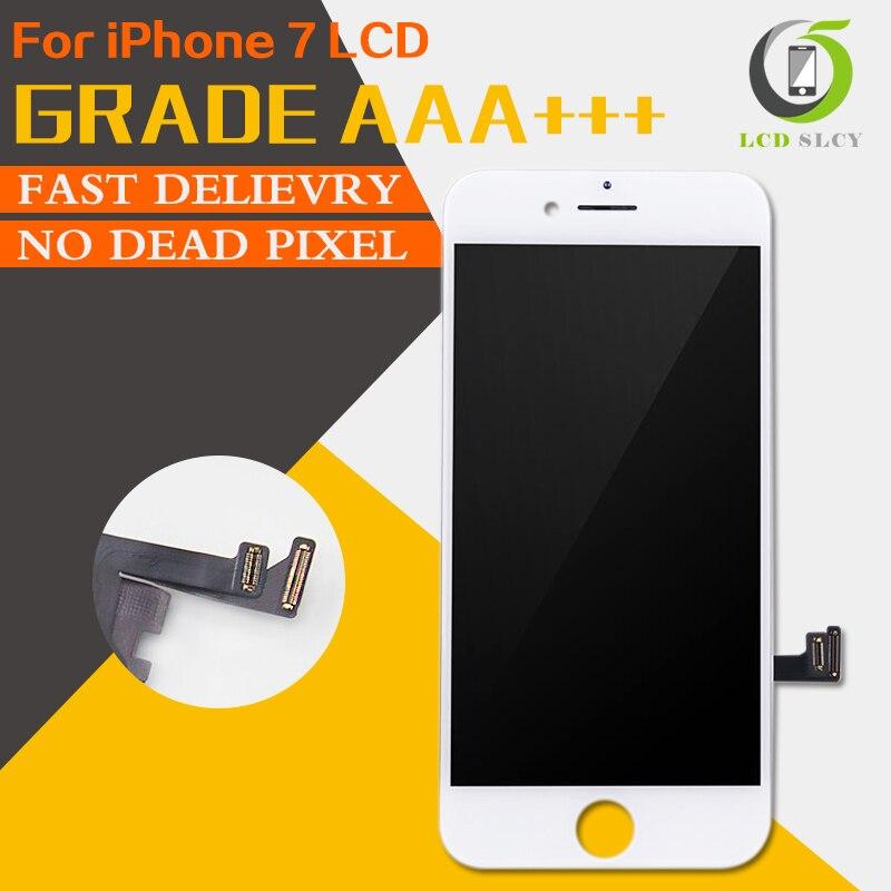 10 unids/lote perfecto 3D contacto AAA para iPhone 7 LCD pantalla táctil pantalla en negro blanco o la Asamblea de reemplazo de pantalla LCD envío gratis DHL