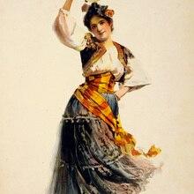 Pósteres clásicos de circo Rosabel Morrison en Carmen, pósteres de pared, pósteres, pegatinas para decoración del hogar, regalo