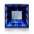 Amazing mirror fonte luminosa túnel bluetooth speaker com tf card player subwoofer orador dança água luz espelho mágico