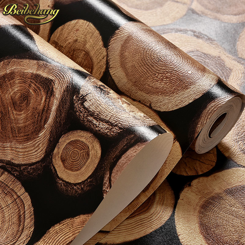 beibehang wall paper wood wallpaper Birch Tree pattern non woven woods roll modern designer wallcovering simple