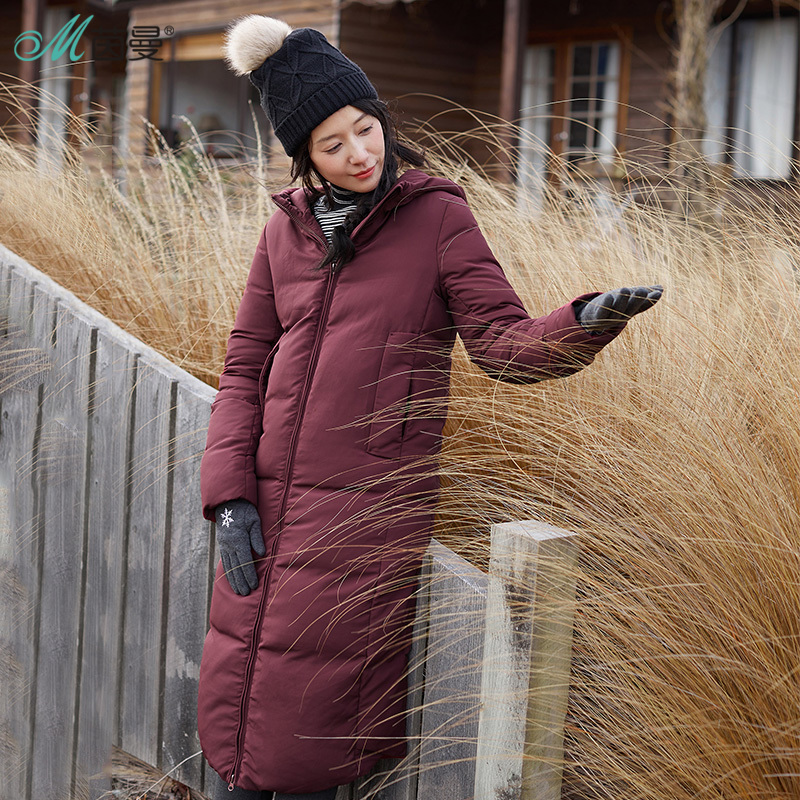 INMAN women Winter New hooded solid color Fashion duck   down     coat     Coat