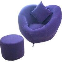 Creative Leisure Household Lazy Sofa Single Person with Footrest Washable Corner Sofa Balcony Bedroom Multi function Soft Sofa