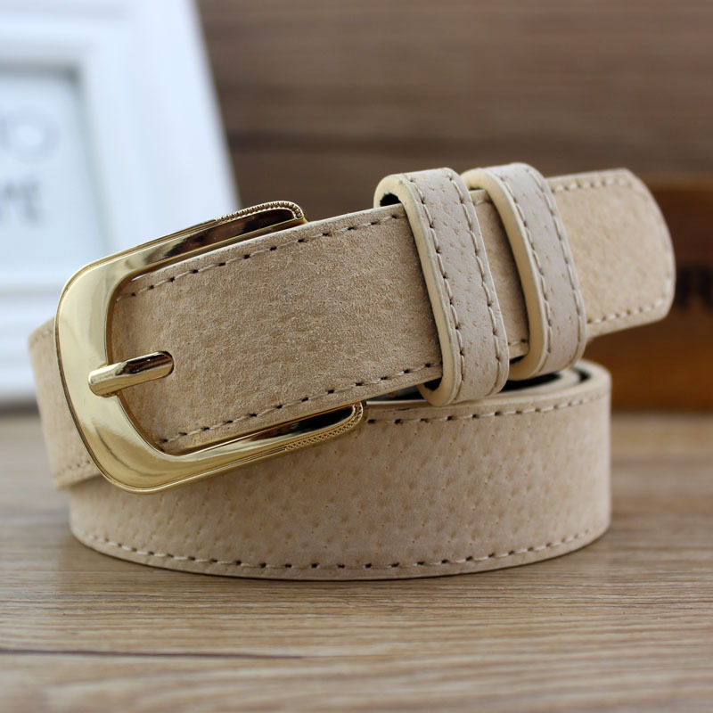 Women Antique Black Genuine Leather Belt Metal Buckle Jeans Strap Pig Skin Belt Alloy Buckles Design Casual All-match Female