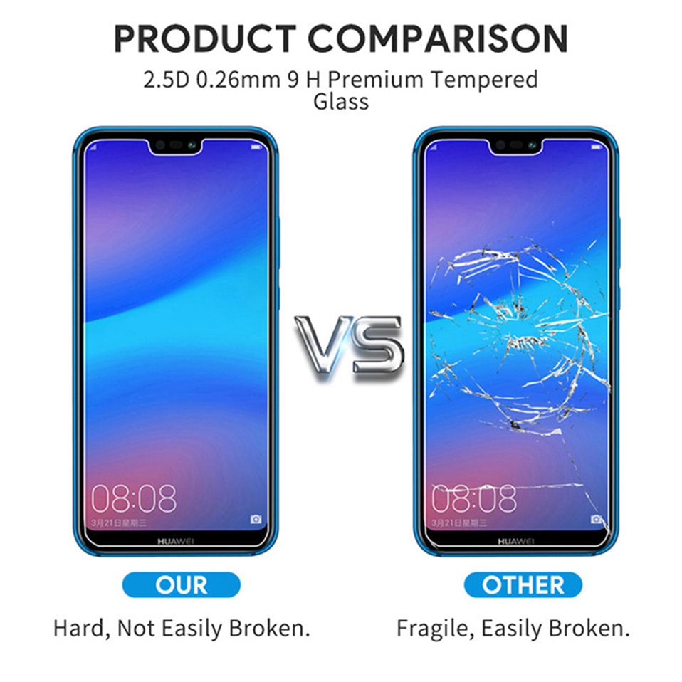 Tempered-Glass-Case-For-Huawei-p smart 2019-mate 10 20 lite pro p20 lite screen-protector film (4)