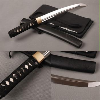 Mini Metal Home Decoration Fully Handmade Sharp Edge Japanese Tanto  High Carbon Steel Blade Full Tang Samurai Sword