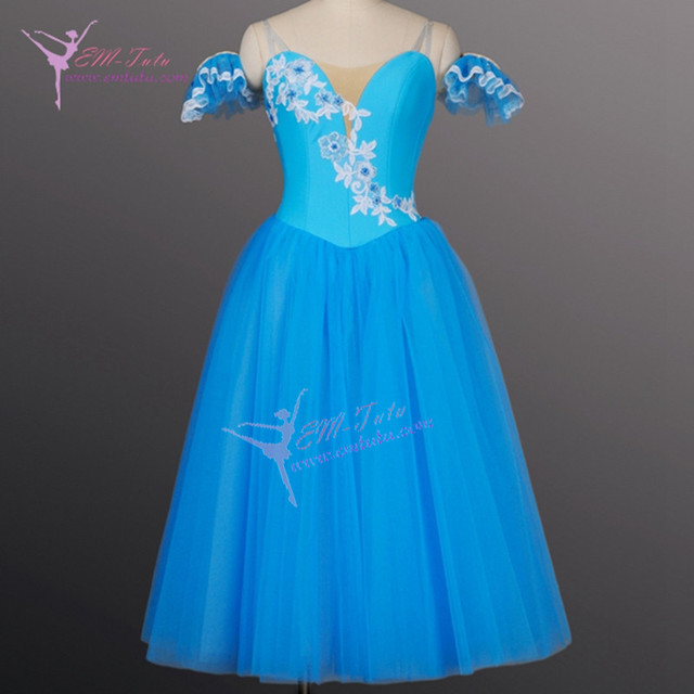 Adults Classical Professional Romantic Tutu Blue Ballerina Long Dress Talisman Le Corsaire Giselle Ballet Costume Women & Adults Classical Professional Romantic Tutu Blue Ballerina Long ...