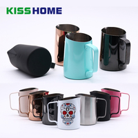 450/500/650ml Coffee Milk Frothing Jug Barista Pitcher Craft Latte Art Mug Stainless Steel Sharp Mouth Milk Jugs for Welhome