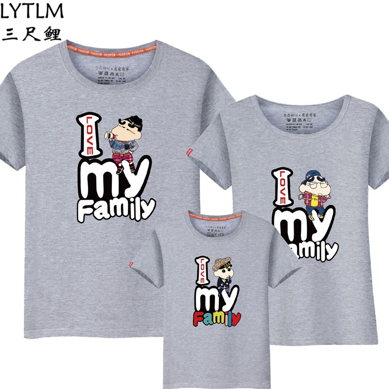 LYTLM Crayon Shin Chan Shirt Mother Kids Shirts Daddy and Me Father Son Matching T Shirts Father Son Matches Clothes Mom Baby