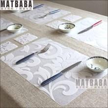 print pp placemat coasters disc pad bowl pad pot holder dining table mat coaster heat insulation pad 6pcs placemats+6pcs coaster