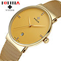 Fotina Casual WWOOR Ultra Thin Watch Men Date Clock Male Waterproof Steel Analog Quartz Watch Men Black Gold Sports Wrist Watch
