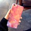 Moda moderno azul rayo de luz clara teléfono móvil case para iphone 7 7 plus 6 6 s fade rosa suave cubierta capa transparente Conque