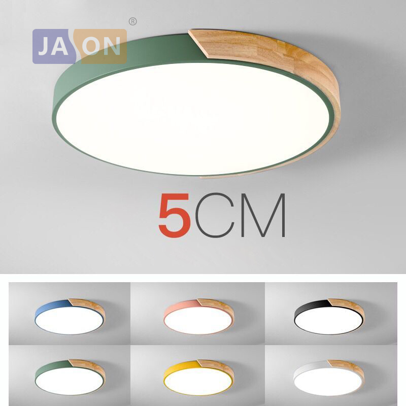Reven Modern Iron Acryl Colorized Round 5cm Super Thin Led Lamp.led Lights.led Ceiling Lustrous Surface Ceiling Lights & Fans