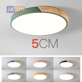 LED moderna de hierro acrilico coloreado redondo 5cm lámpara LED súper fina. luz LED ¡Luces de techo! luz de techo LED. lámpara de techo para vestíbulo