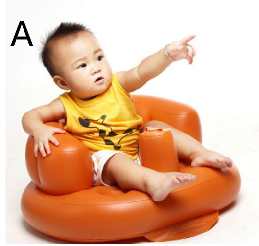 Free Shipping Baby Inflatable Sofa Multi-function Portable Child Sofa Dinner Chair Bath Stool Safety Seat T01