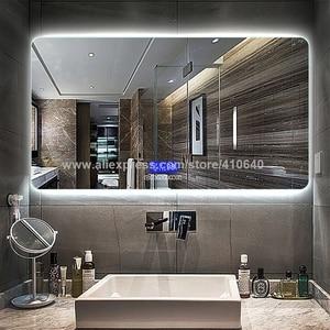 Image 5 - Sistema de música con Radio y Bluetooth, indicador de fecha de temperatura de superficie de espejo de baño, puerto USB, interruptor de Sensor táctil