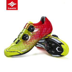 Image 4 - Santic Carbon Fiber Men Cycling Shoes Road Bike Self locking Professional Competition Ultralight PRO Racing Team Bicycle Shoes