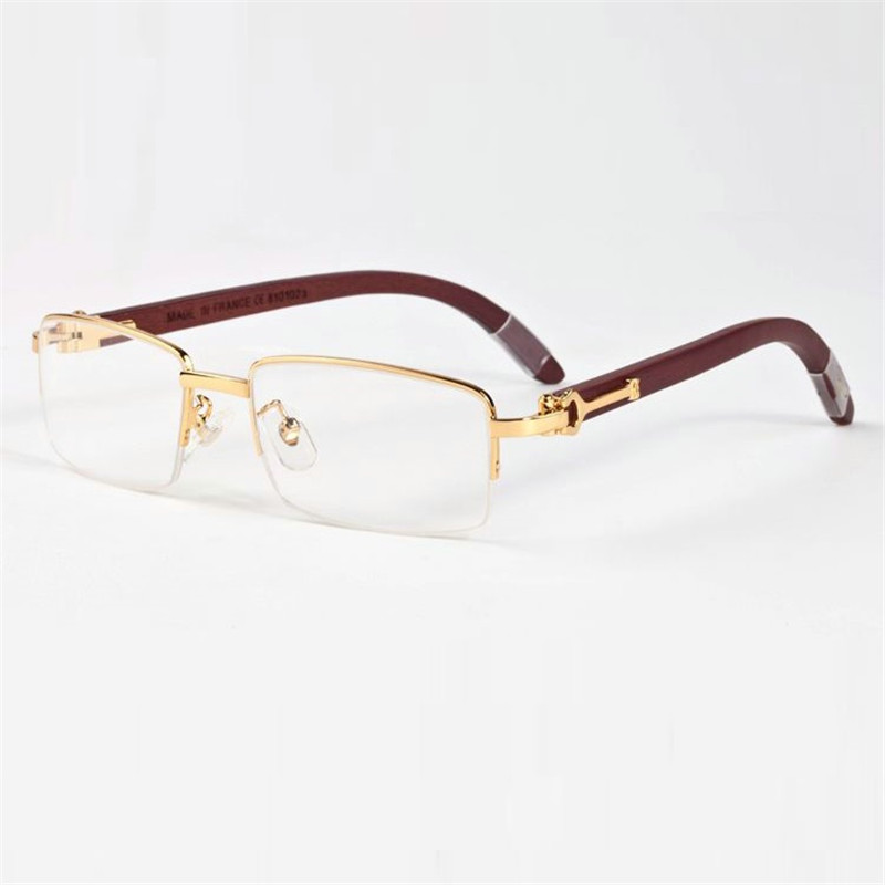 Apparel Accessories Professional Sale Vazrobe Wooden Eyeglasses Glasses Frame Men Round Man Prescription Spectacles Gold Silver Brand Name Wood Leg High Quality