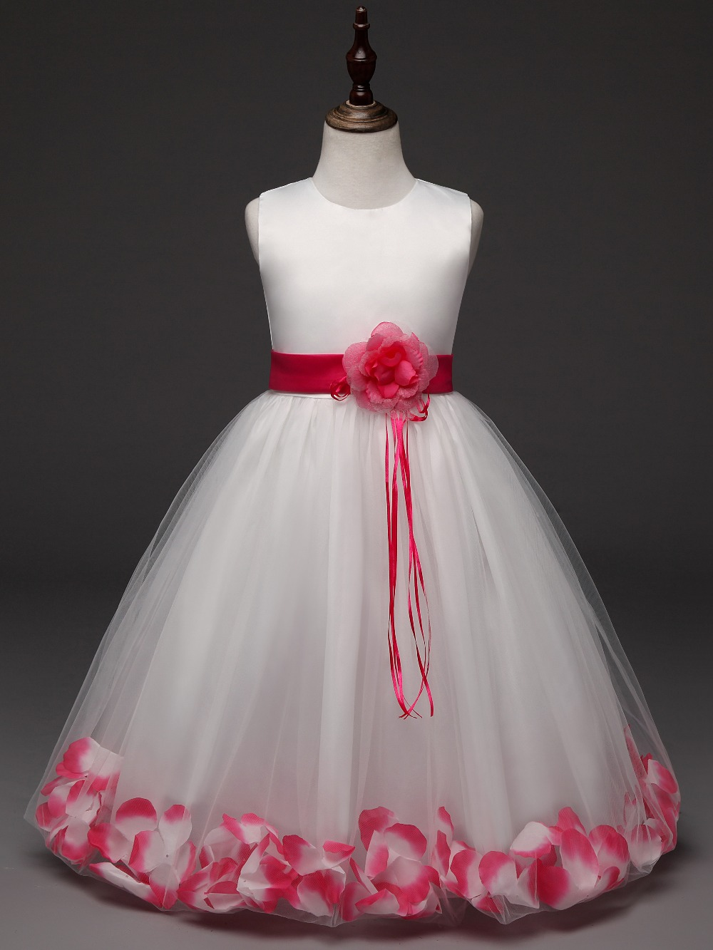Blumenmädchen kinder Kleidung Petal Saum Party Mädchen Tüll Kleid ...