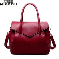 NIGEDU Brand Luxury Women Handbags Designer PU Leather Crossbody Bag Fashion Female Messenger Bags Shoulder Bag