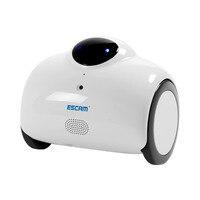 ESCAM Robot QN02 720 P WiFi IP Máy Ảnh Thông Minh Web Cam Cảm Ứng Tương Tác Di Chuyển Cười Tự Động Tính Phí Hỗ Trợ Video Từ Xa-trắng