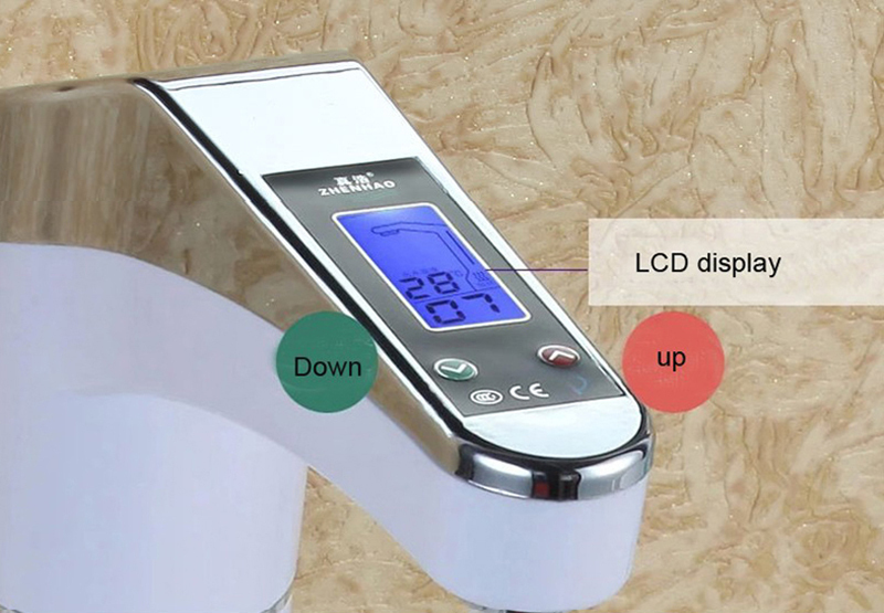 NEW DESIGN Intelligent automatic LCD display Instant electric water heating Faucet