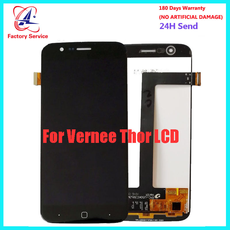 5.0 Inch For 100% Original Vernee Thor LCD Display + Touch Screen Digitizer Assembly Replacement For Vernee Thor  Phone LCD