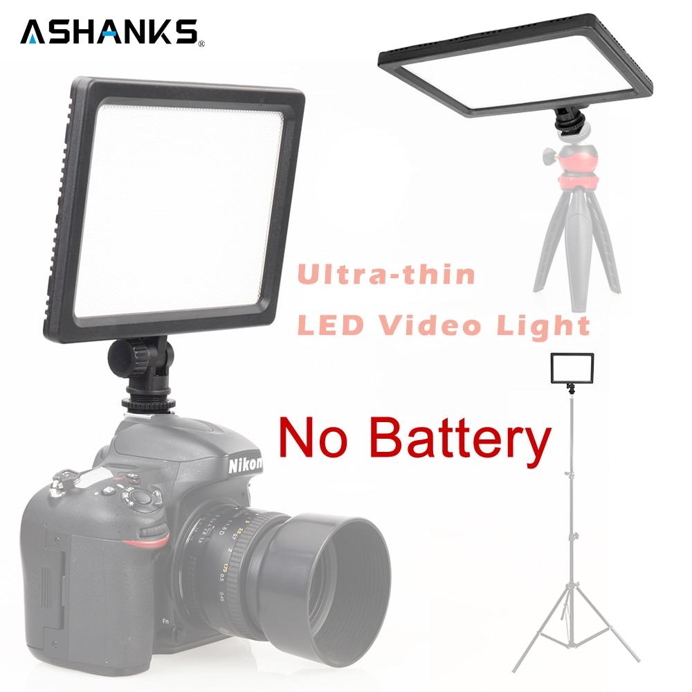 ASHANKS LCD Display Bi-Color Dimmable Ultra-thin DSLR LED Video Light 3200K-5600K for Canon Nikon Camera Camcorder Selfie Light цена и фото