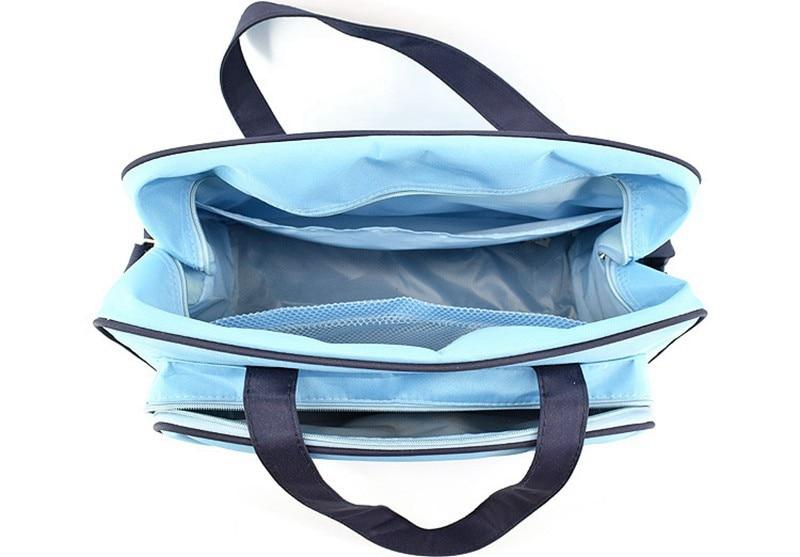 MOTOHOOD 4pcs Baby Diaper Bag Sets For Mom Maternity Baby Bag Organizer Bottle Bag + Nappy Map Cute Shoes Printing Nappy Bag (2)