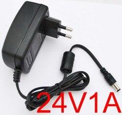 1 قطع عالية الجودة 24 فولت 1a ac 100 فولت-240 فولت محول تحويل امدادات الطاقة محول dc 1000ma الاتحاد الأوروبي التوصيل dc 5.5 ملليمتر x 2.1-2.5 ملليمتر
