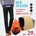 Primavera homens moda outono veludo fino longo calças dos homens casuais calças longas retas