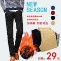 spring autumn men fashion velvet slim long pants men casual straight long pants