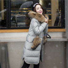 2017 New Fashion Women Jacket Winter Jacket Women 90 White Duck Jacket Real Fur Collar Parka
