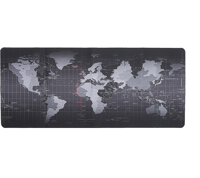 Super Large Size 900X400MM / 1000X500MM OLD Pasaulio žemėlapio greitis pelės kilimėlis Kompiuterių žaidimų pelės kilimėlio užraktas krašto stalviršis