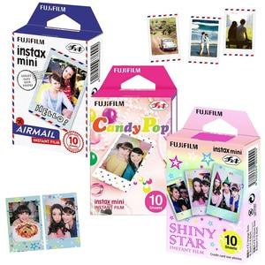 Image 1 - Echt Fujifilm Instax Mini 8 Film 3 Packs Luchtpost/Candy Pop/ Shiny Star Voor Fujifilm Instant Mini 9 11 90 Link Printer
