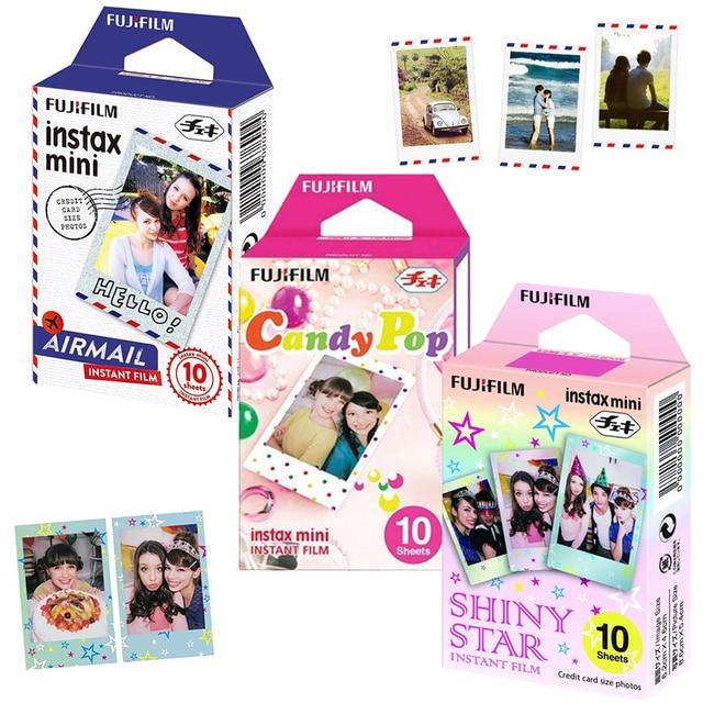Genuine Fujifilm Instax Mini 8 Film 3 Packs Airmail/ Candy Pop/ Shiny Star For Fujifilm Instant Mini 9 11 90  LINK  Printer