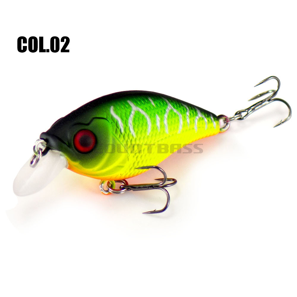 46mm 6.8g Countbass Floating Chatterbait Wobbler Lures for Fishing, Crank Bait Hard Plastic Lures for Salmon Trout Bass Pike-5