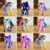14cm Horse Toys Twilight Sparkle Princess Celestia Rainbow Unicorn Pinkie Pie Princess Luna Model Figure Toys
