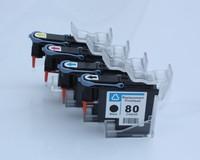 4PK مجددة لطابعة رأس الطباعة HP 80 C4820A C4821A C4822A C4823A